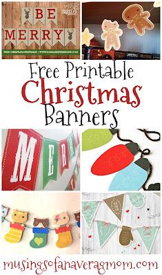free printable christmas banners