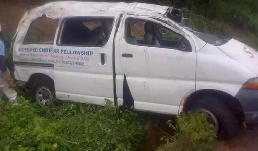 Photos: 15 FUTA Students Involved In Road Accident As 4 Die