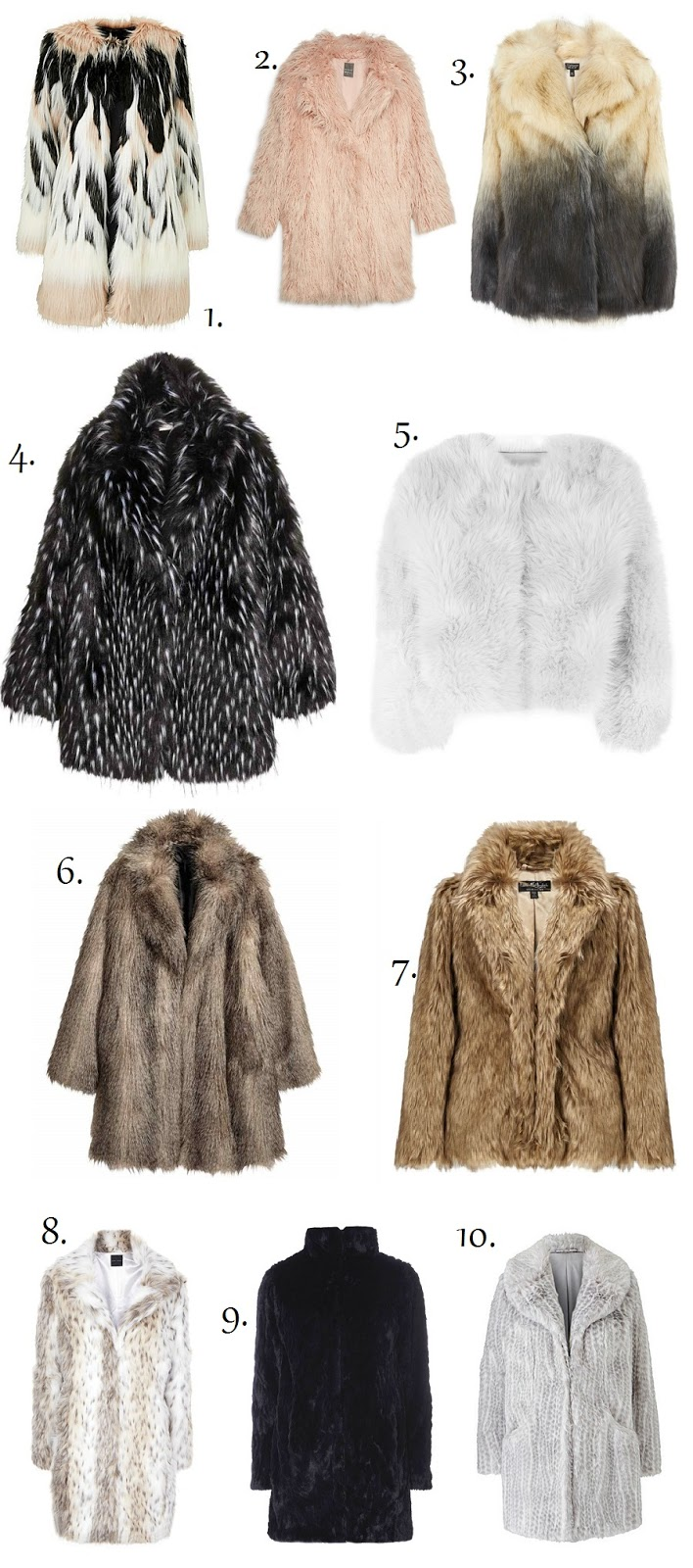 faux fur coats, don't wear real fur, The Style Guide Blog, Style Blog, Fashion Blog, Faux Fur coats