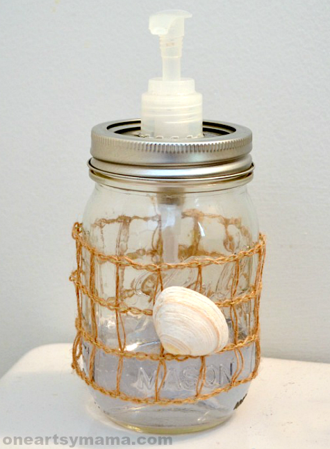 DIY Mason Jar Soap Dispenser Pump