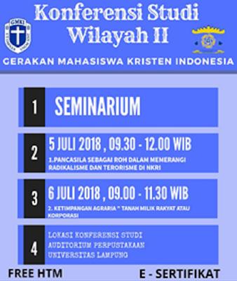 Konfrensi Studi Wilayah II, GMKI Bandarlampung Gelar Seminarium Pluralisme dan Agraria