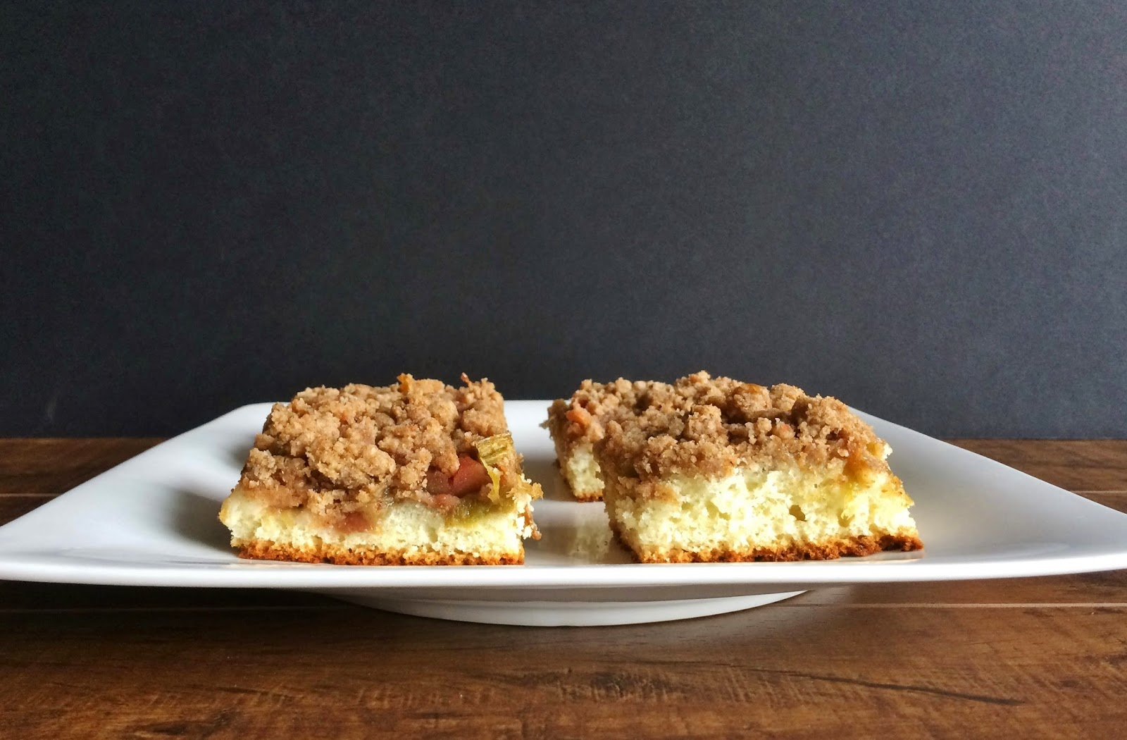 My Tiny Oven Rhubarb Snacking Cake