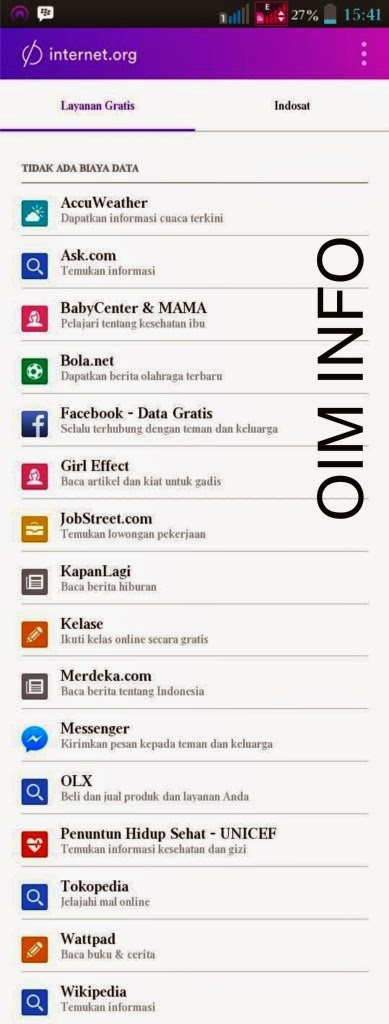 Situs Gratis dengan Aplikasi internet.org