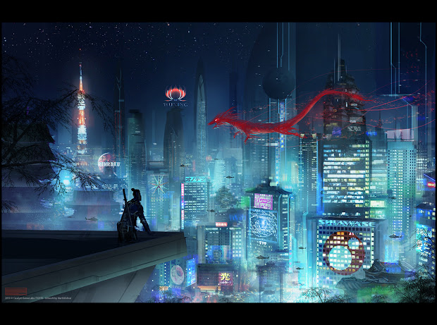 Mark Molnar - Of Concept Art And Illustration Works Shadowrun Neo Tokyo