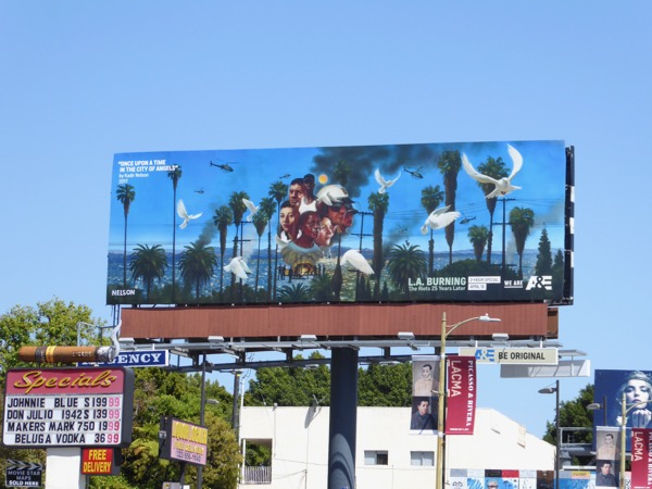 LA Burning Riots 25 years later billboard