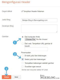 Mengganti Logo Header Blog