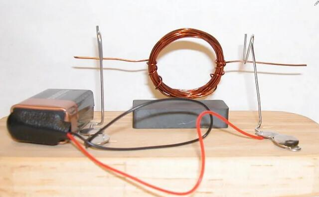 Simple DC Motor Science Project for school students-Low Cost Project