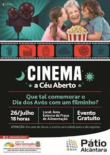 Shopping Pátio Alcântara celebra Dia dos Avós com evento 'Cinema a Céu Aberto'