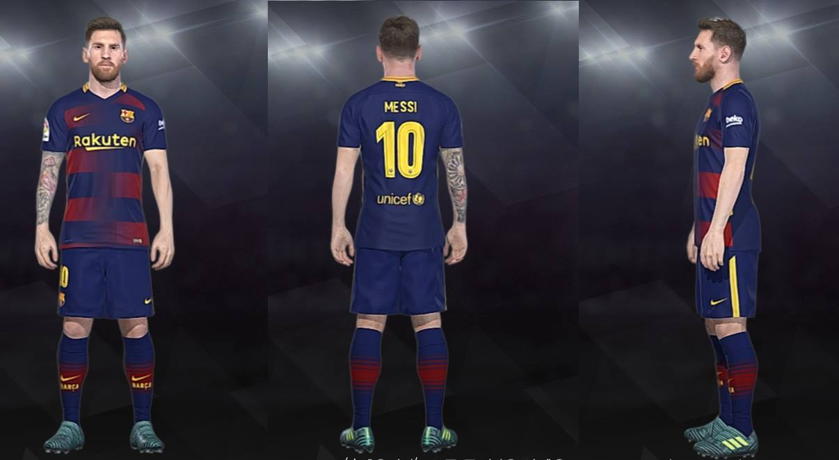 Ultigamerz: PES 2018 Barcelona Fantasy Home Kit