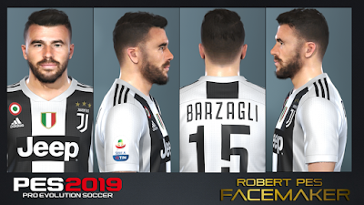 PES 2019 Faces Andrea Barzagli by RobertPes Facemaker