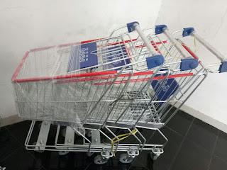Troli supermarket minimarket murah di tangerang