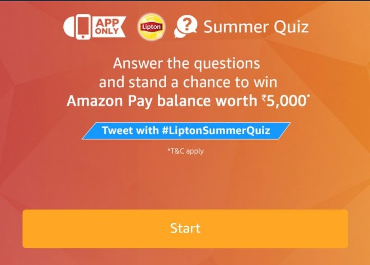 (All Answers)Amazon Summer Quiz – Answer & win Rs.5000