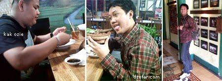 saya, ozie dan restoran Inggil Malang