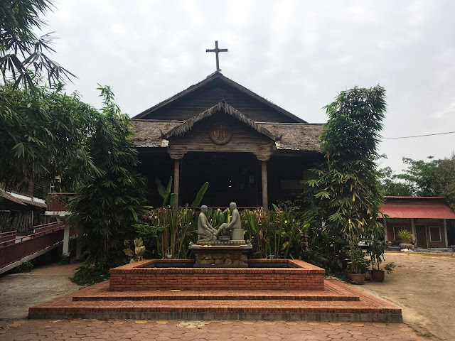 St. John the Apostle Catholic Church, Siem Reap, Cambodia wooden church traditional architecture