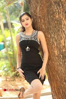 Actress Poojitha Pallavi Naidu Stills in Black Short Dress at Inkenti Nuvve Cheppu Movie Platinum Disc Function  0003.JPG