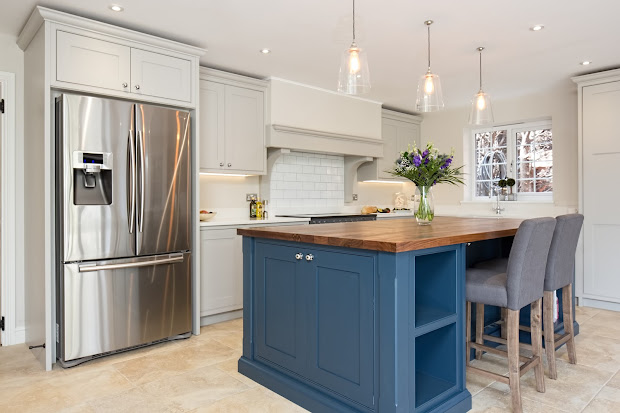 Grey Kitchen Cabinets With Blue Island farrow and ball hague blue island - vtwctr