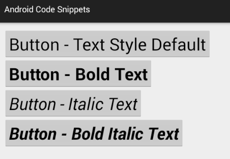 how to change text style in android