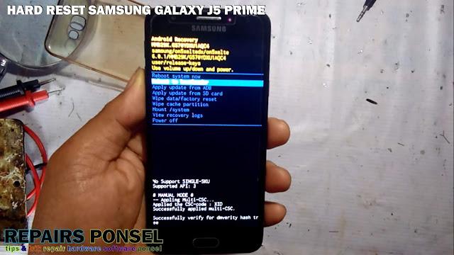 Hard Reset Samsung Galaxy J5 Prime