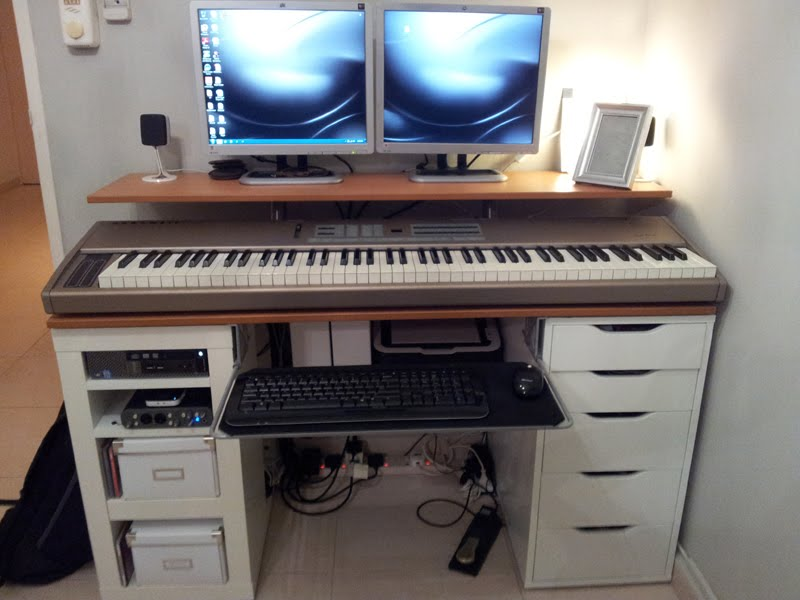 Integrated Computer Music Work Desk Home Decoration Views