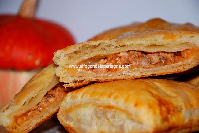 Empanada de hojaldre con pollo