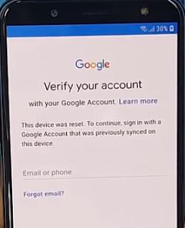 Cara gampang melewati verifikasi akun Google yang pernah disinkronkan pada perangkat smartph Nih Cara Bypass Akun Google Samsung J6 Plus 2018 Oreo 8