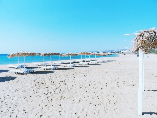 Golden beach Paros island