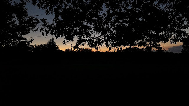 Solar Eclipse 2017 Nashville Tennessee sunset path of totality orange skyline