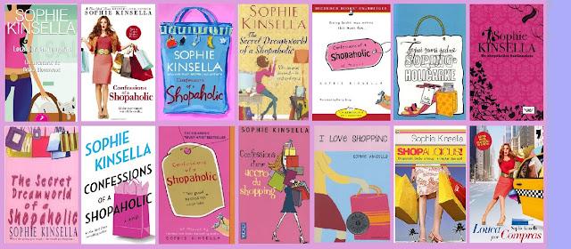 portadas del libro chick lit Loca por las compras, de Sophie Kinsella