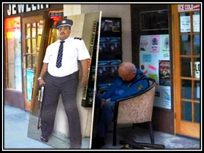 lazy security guard