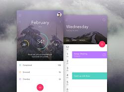 Material UI Calendar Design with Parallax
