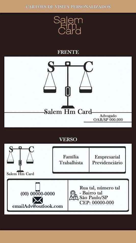 Cartão de Visita - Modelo 3 - Advogado