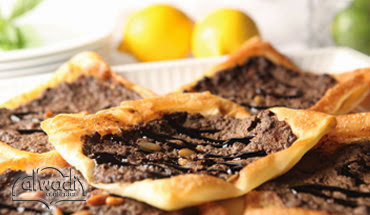 tbsp Al Wadi Al Akhdar pomegranate molasses Lamb Sfeeha (Meat Pie with Puff Pastry) Recipe