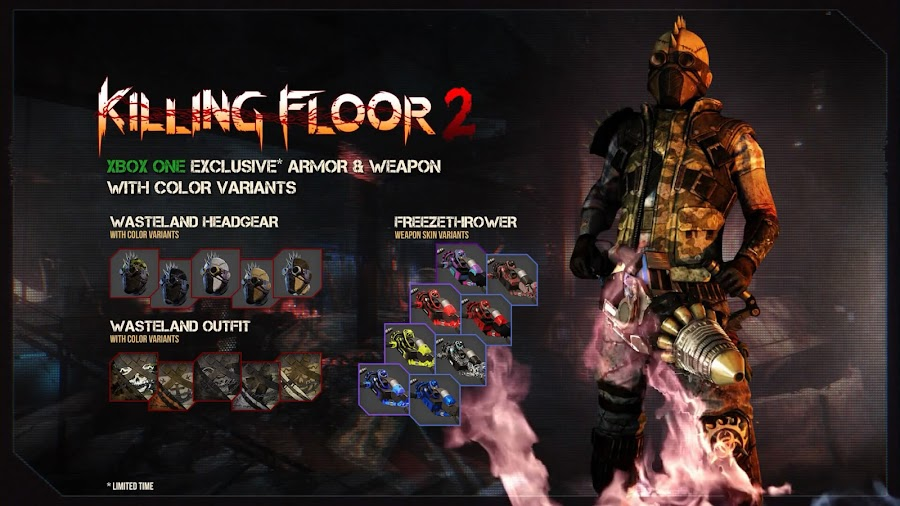 killing floor 2 xbox one exclusive content