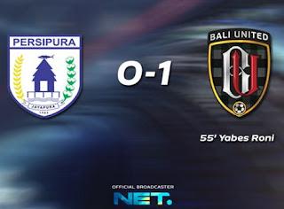 persipura vs bali united 0-1