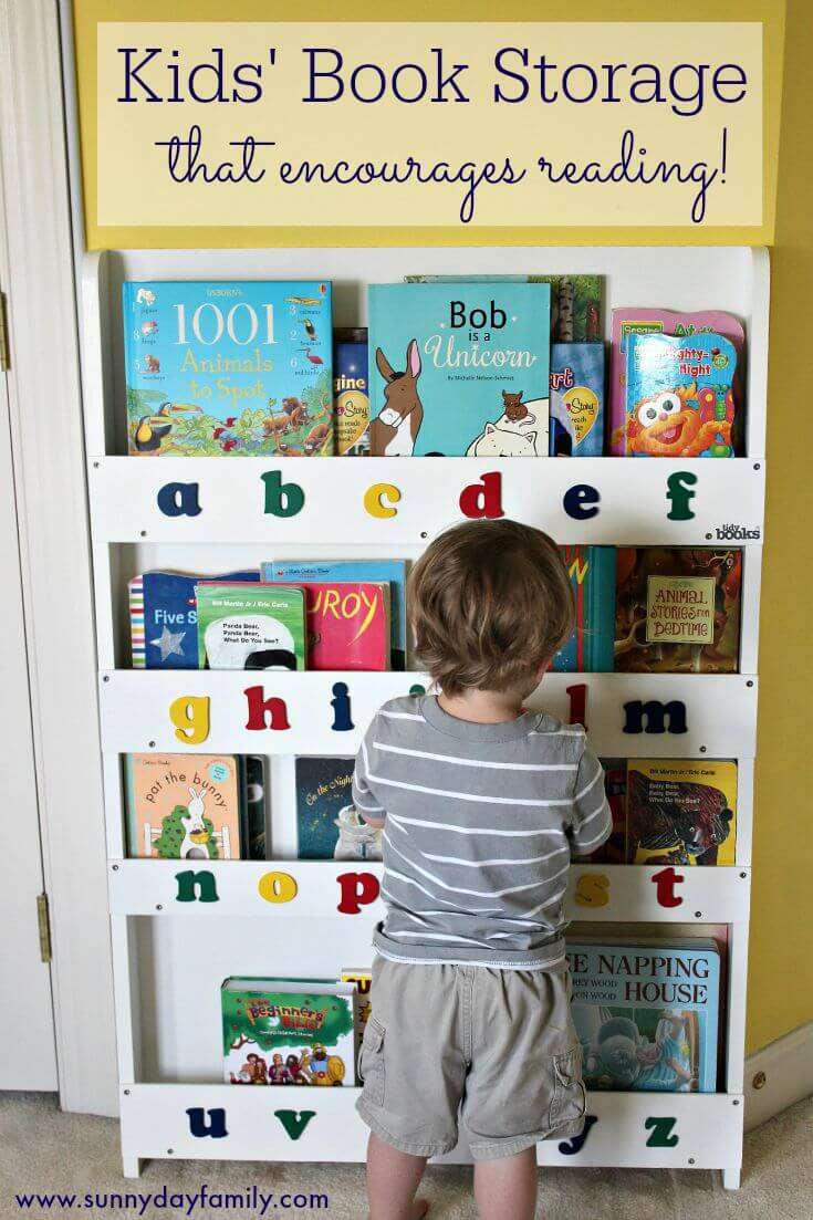 A fabulous kids bookcase that encourages reading! A review of the Tidy Books bookcase & book display.