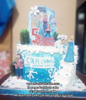 Kue Tart Frozen Buttercream Ulang Tahun Anak Cewek