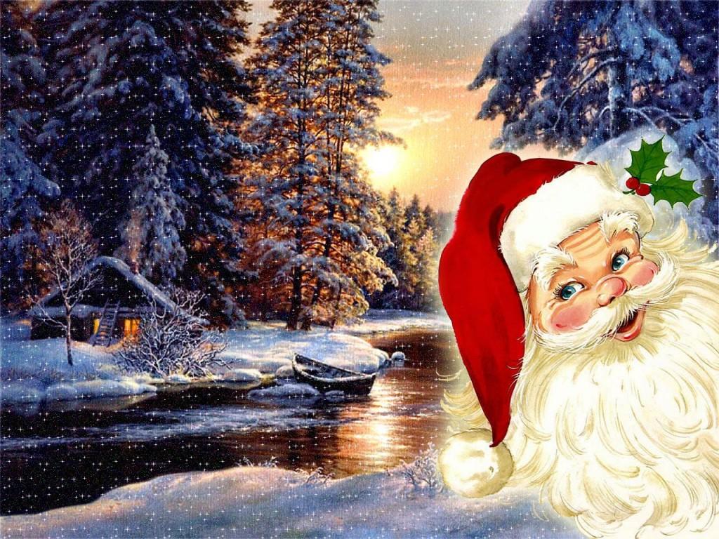 Fondo De Pantalla 3d De Navidad De Santa Vas De Luna Hd: Wallpapers Navidad
