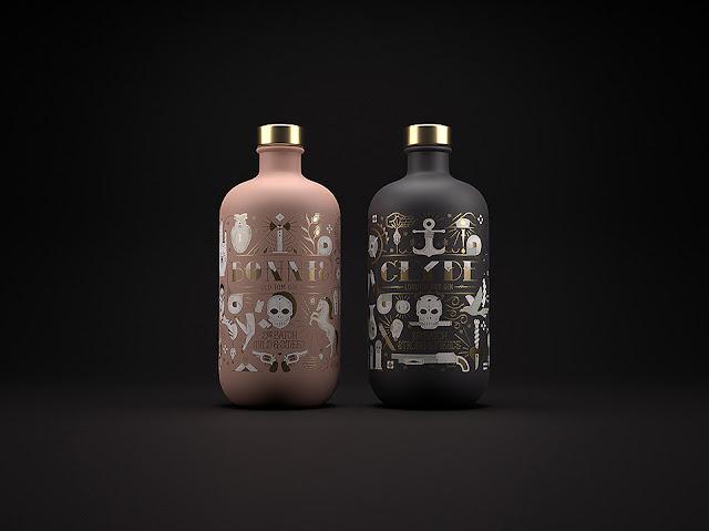 Packaging de Ginebra Inspirado en la historia de Bonnie y Clyde