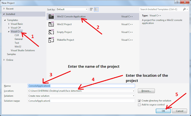 Creating new Visual Studio Project