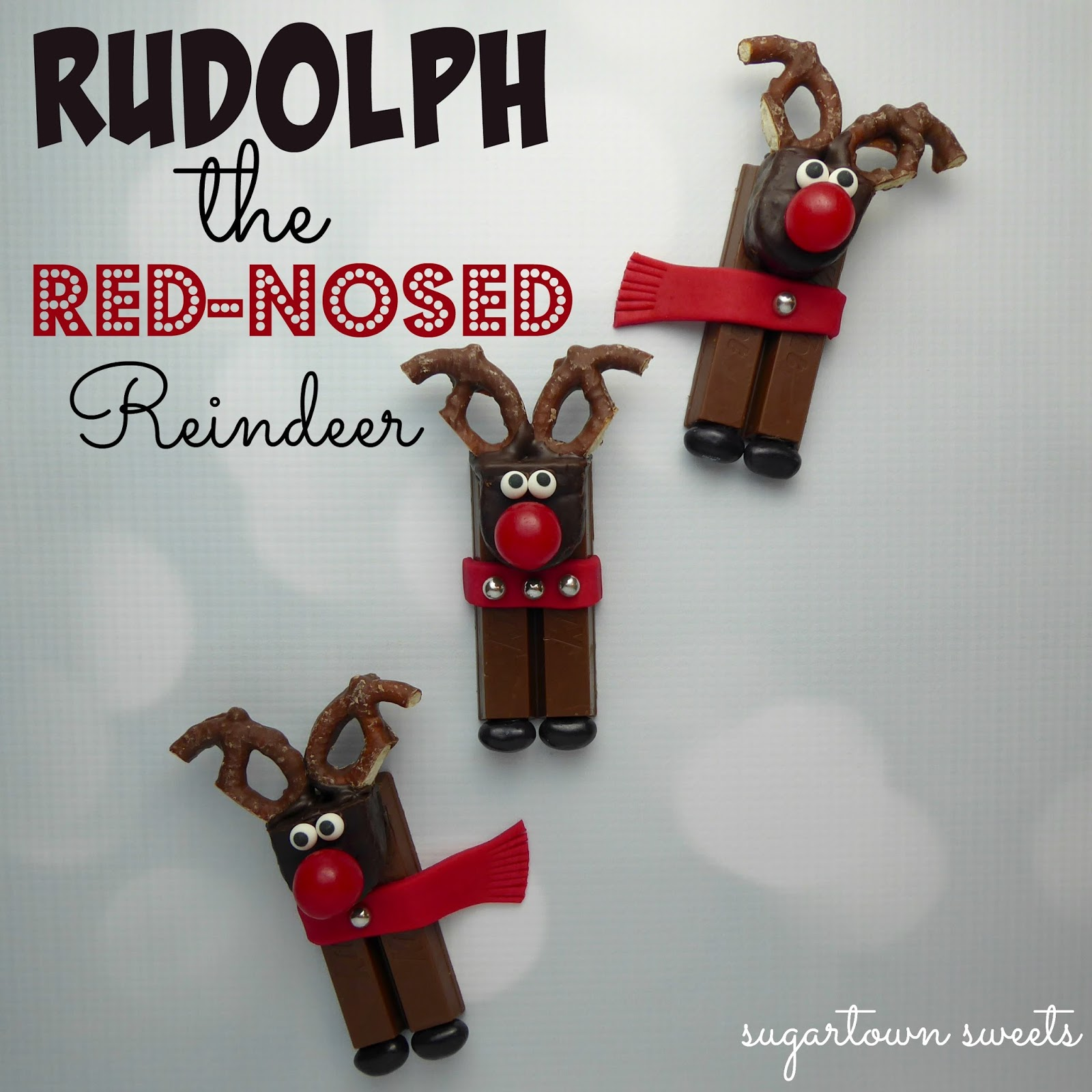 Sugartown Sweets: Rudolph the Red-Nosed Reindeer Candy Treats!