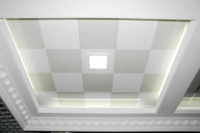 model plafon gypsum minimalis terbaru