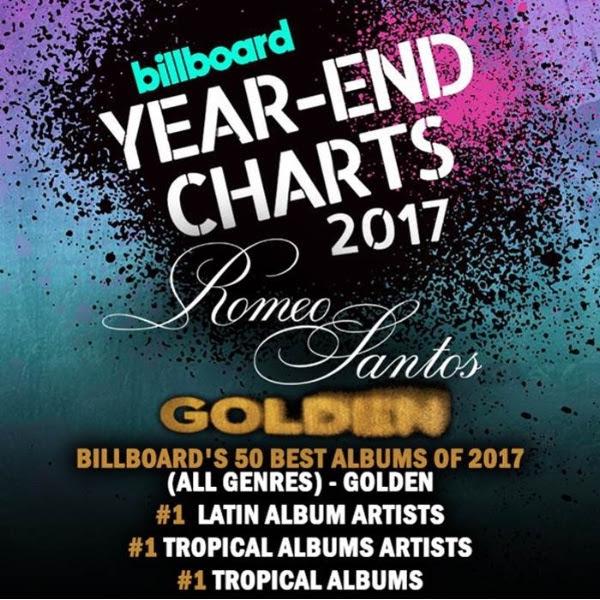 GOLDEN de Romeo Santos es elegido entre los mejores 50 discos por la revista Billboard