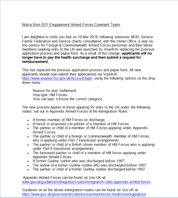 CATTERICK GARRISON HIVE: CHANGES TO APPLICATIONS FOR ENTRY