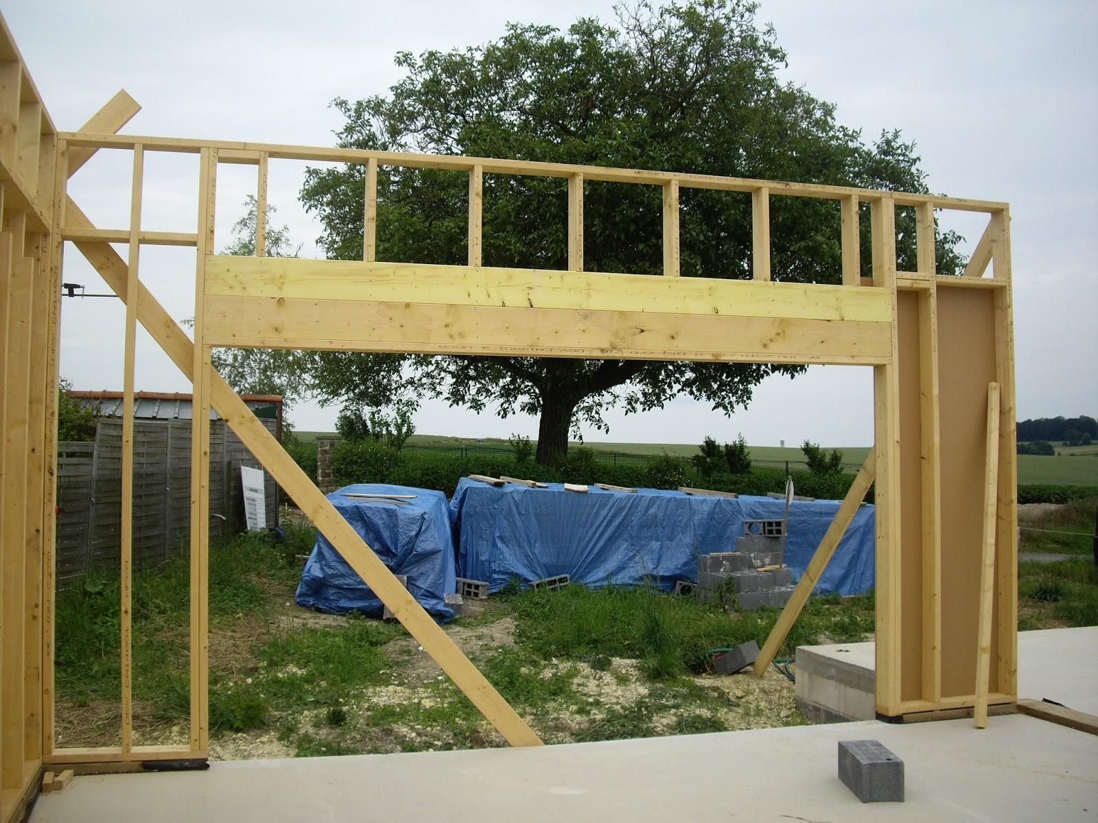 notre auto construction passive maison ossature bois m o b ossature bois jour 6. Black Bedroom Furniture Sets. Home Design Ideas