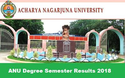 ANU Degree Semester Results 2018, Manabadi ANU Results 2018