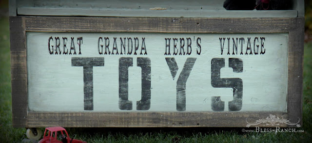 Old Toy Box Painted with Fusion Brook, Bliss-Ranch.com