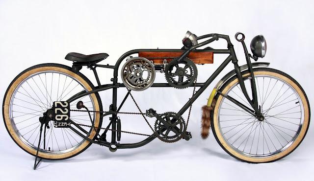 Pedal Motorbike, Bike, Weird. cycle, bicycle, raccoon, mud flap, handlebars,