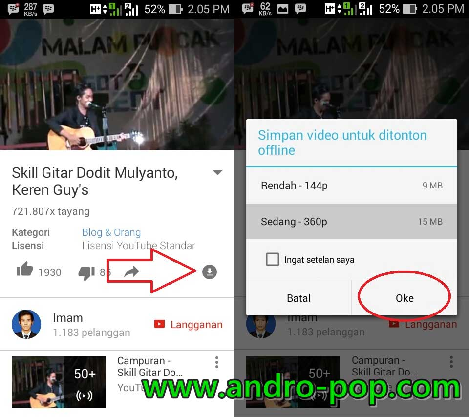 Cara download video dari facebook tanpa aplikasi di hp android.