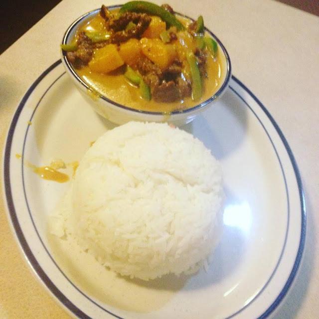 Khmer curry at Leann's Cafe