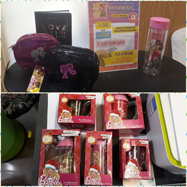Grace Cosmetics Philippines is a sister company of Richprime Global, which distributes Barbie (these were also given away thru pick a prize), Hot Wheels, Shopkins, Chicco, etc.
